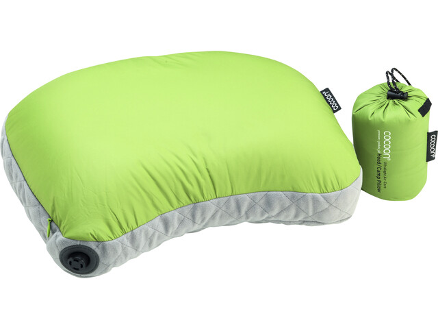 Cocoon Air Core Hood/Camp Ultralight Pillow, wasabi/grey